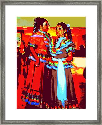 Folklorico Dancers Framed Print by Randall Weidner
