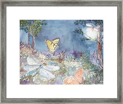 Follow The Firefly Framed Print by Dorothy Herron