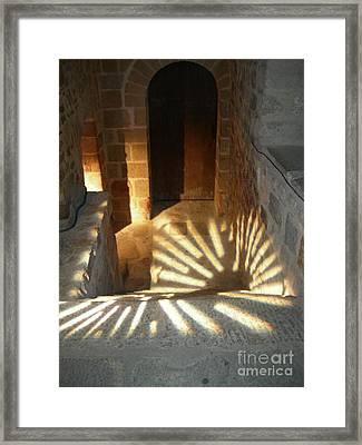 Follow The Light-stairs Framed Print