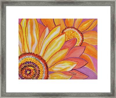 Follow The Sun Framed Print by Connie Valasco