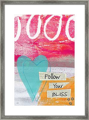 Follow Your Bliss Framed Print by Linda Woods