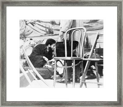 Followers Of Malcolm X Kneel Framed Print