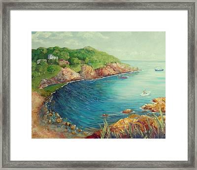 Folly Cove Landing  Framed Print