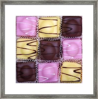 Fondant Fancies Framed Print by Jane Rix