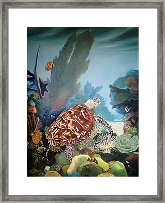 Fondo Marino Framed Print by Jose Romero