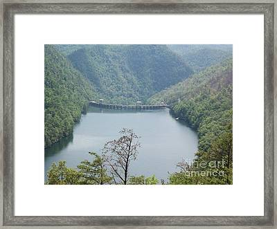 Framed Print featuring the photograph Fontana Dam by Janice Spivey