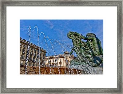 Fontana Di Piazza Solferino Framed Print