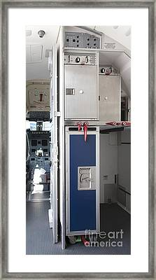 Food Compartment On An Airplane Framed Print