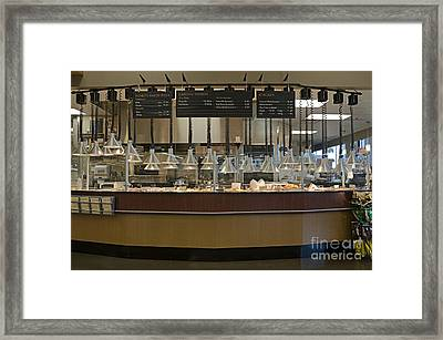 Food Kiosk In A Grocery Store Framed Print by Robert Pisano