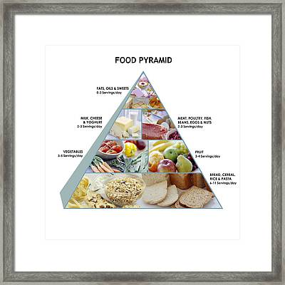 Food Pyramid Framed Print by David Munns