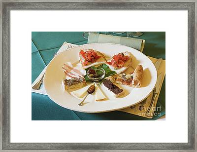Food Samples Framed Print by Jeremy Woodhouse