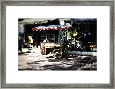 Food Stand Framed Print by Thanh Tran