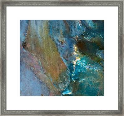 Foot Of Destiny Water Framed Print by Petro Bevza