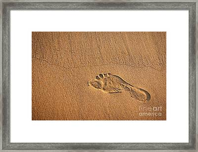 Foot Print Framed Print by Carlos Caetano
