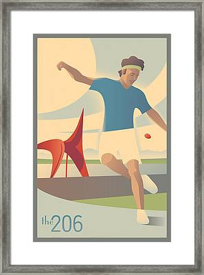 Footbag In Seattle Framed Print by Mitch Frey
