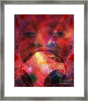 Football - Le Ballon De Calixte Framed Print by Fania Simon