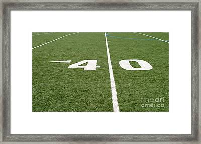 Framed Print featuring the photograph Football Field Forty by Henrik Lehnerer