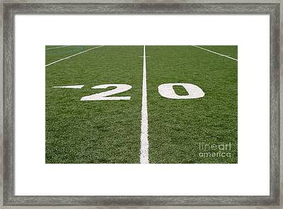 Framed Print featuring the photograph Football Field Twenty by Henrik Lehnerer