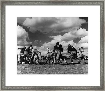 Football Game Framed Print by George Marks