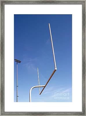 Framed Print featuring the photograph Football Goal by Henrik Lehnerer