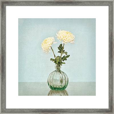 Framed Print featuring the photograph Football Mum Blue by Mary Hershberger