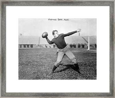 Football, Norman Barr, University Framed Print by Everett