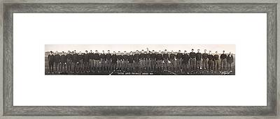 Football, Notre Dame Football Squad Framed Print