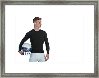 Football Player Framed Print by Jim Boardman