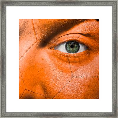 Football Scars Framed Print by Semmick Photo