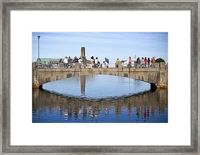 Footbridge Asbury Park Framed Print by Andrew Kazmierski