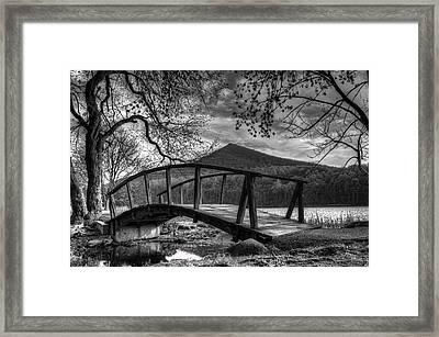 Footbridge Peaks Of Otter - Virginia Framed Print