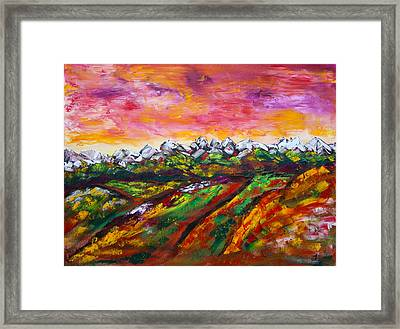 Foothills Fall Framed Print by James Bryron Love