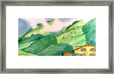 Foothills Of Au Framed Print