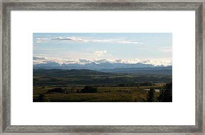 Foothills Panorama Framed Print