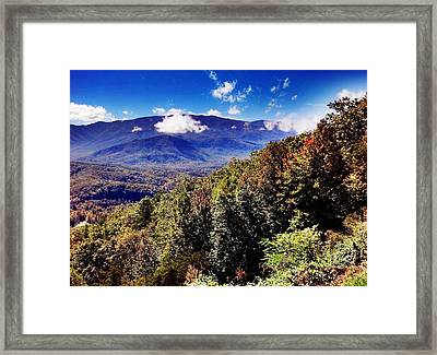 Foothills Parkway Tennessee Framed Print by Janice Spivey