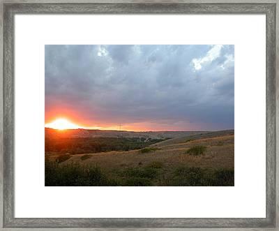 Foothills Sunset Framed Print