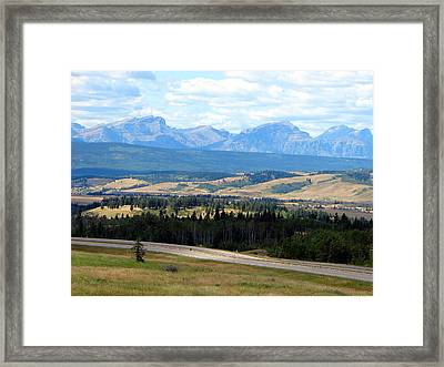 Foothills West Of Calgary Framed Print