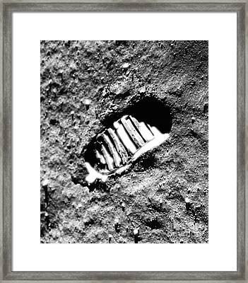 Footprint On The Moon Framed Print by NASA  Science Source