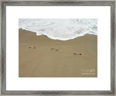 Framed Print featuring the photograph Footprints by Arlene Carmel