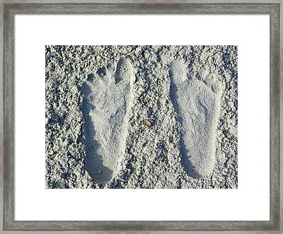 Framed Print featuring the photograph Footprints by Eve Spring