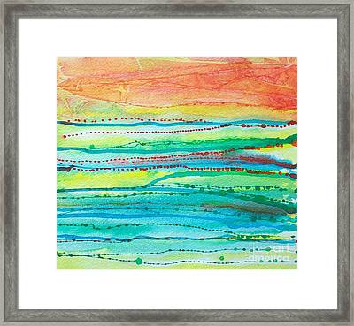 Footprints Framed Print by Judith A Smothers