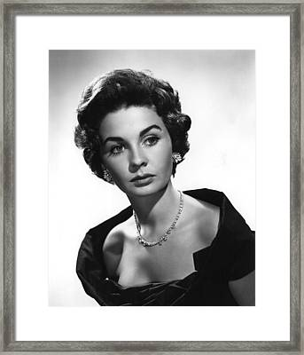 Footsteps In The Fog, Jean Simmons, 1955 Framed Print