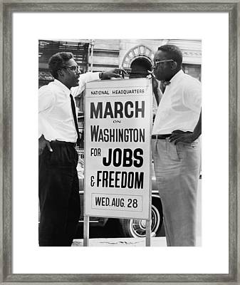 For Bayard Rustin 1912-1987, Here Framed Print by Everett