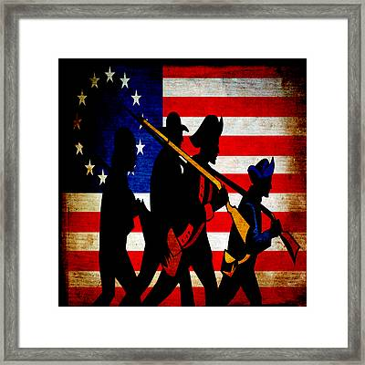 For Liberty Framed Print by Angelina Vick