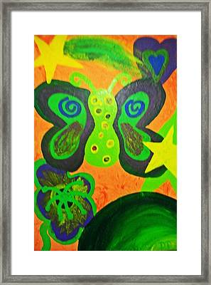 For The Kids Framed Print by The Anxiously Abstract Artist