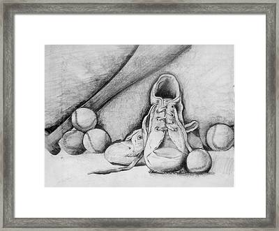 For The Love Of Baseball Framed Print by Shelbi Ummel