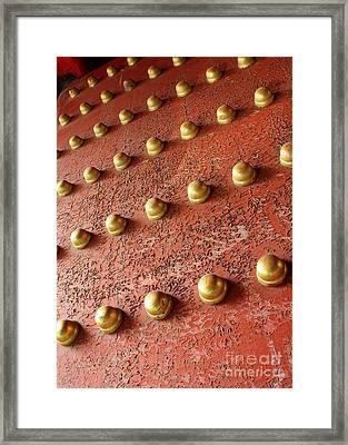 Forbidden City Door Framed Print by Carol Groenen