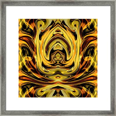 Forbidden Fruit Framed Print by Shy  Blakeman