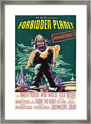 Forbidden Planet, Robby The Robot, Anne Framed Print