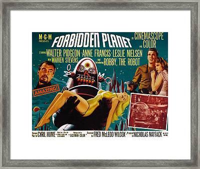 Forbidden Planet, Walter Pidgeon, Anne Framed Print